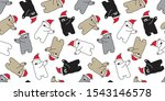 bear seamless pattern christmas ... | Shutterstock .eps vector #1543146578