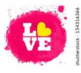 pink watercolor design for... | Shutterstock .eps vector #154316366