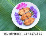 Stock photo king mackerel fried indo pacific king mackerels spotted mackerels fish fried scomberomorus fried 1543171532