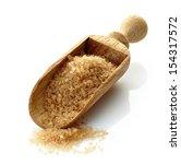 Wooden Scoop With Brown Sugar