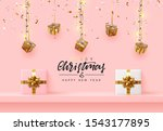 christmas background. xmas... | Shutterstock .eps vector #1543177895