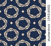seamless pattern wreath and dots | Shutterstock .eps vector #154318502