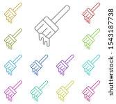 brush multi color icon. simple...
