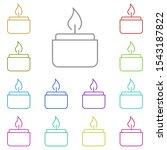 candle multi color icon. simple ...