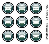 car icon set with glass button... | Shutterstock . vector #154319702