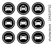 car icon set.  raster version. | Shutterstock . vector #154319732