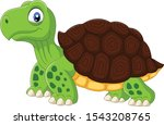cartoon funny turtle isolated... | Shutterstock .eps vector #1543208765