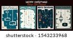 merry christmas postcards ... | Shutterstock .eps vector #1543233968