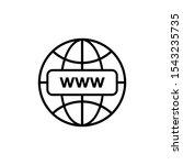website internet icon vector... | Shutterstock .eps vector #1543235735