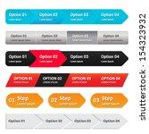step panel   website element  ... | Shutterstock .eps vector #154323932