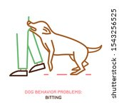 dog behavior problem icon.... | Shutterstock .eps vector #1543256525