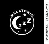 melatonin icon. sleeping... | Shutterstock .eps vector #1543256945