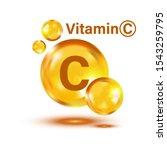 Vitamin C Icon. Pill Capsule...