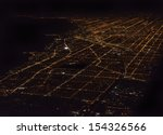 Night Panorama Of Chicago Usa