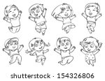 children jump for joy. coloring ...
