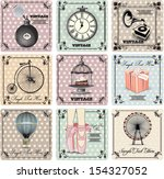 retro backgrounds and vintage... | Shutterstock .eps vector #154327052