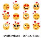 love eyes emoticons vector love ... | Shutterstock .eps vector #1543276208