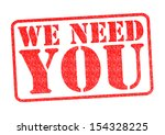 we need you rubber stamp over a ... | Shutterstock . vector #154328225