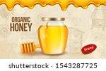 farm honey. ad placard template ... | Shutterstock .eps vector #1543287725