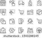 set of shopping icons  buy ...   Shutterstock .eps vector #1543288145