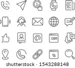 set of contact icons  address ... | Shutterstock .eps vector #1543288148