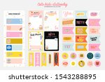 collection of weekly or daily... | Shutterstock .eps vector #1543288895
