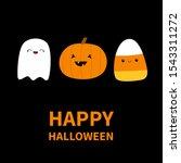 happy halloween. candy corn ... | Shutterstock . vector #1543311272
