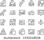 set of presentation icons ... | Shutterstock .eps vector #1543318028
