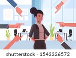 depressed businesswoman being... | Shutterstock .eps vector #1543326572