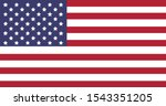 flag of america with fifty... | Shutterstock .eps vector #1543351205