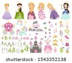 big vector set of beautiful...   Shutterstock .eps vector #1543352138