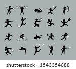set of sport icons vector... | Shutterstock .eps vector #1543354688
