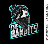 the bandits mascot esport logo... | Shutterstock .eps vector #1543354838