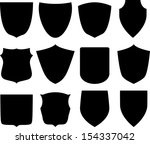 shield icon set. vector... | Shutterstock .eps vector #154337042