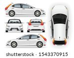car vector template on white...   Shutterstock . vector #1543370915
