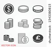 coins icon isolated on...