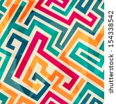 colored lines seamless pattern... | Shutterstock .eps vector #154338542