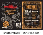 mexican menu template for... | Shutterstock .eps vector #1543466435