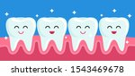happy friends healthy teeth are ... | Shutterstock .eps vector #1543469678