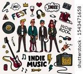 indie rock music set....   Shutterstock .eps vector #1543471658