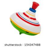 toy spinning top isolated on a... | Shutterstock . vector #154347488