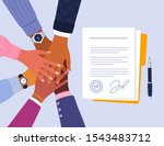 conclusion of business... | Shutterstock .eps vector #1543483712