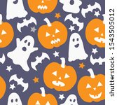 simple halloween pattern. dark... | Shutterstock .eps vector #1543505012