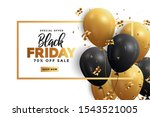 black friday sale banner with... | Shutterstock .eps vector #1543521005