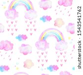 cute seamless pattern with... | Shutterstock . vector #1543541762
