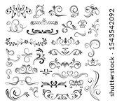 set of ornamental filigree... | Shutterstock .eps vector #1543542092