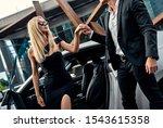 beautiful young couple near... | Shutterstock . vector #1543615358