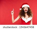 Happy Girl In Santa Costume...