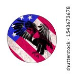 Clipart Eagle On American Flag...