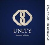 vector unity knot symbol design ... | Shutterstock .eps vector #154367435
